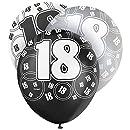Noir 18 Ans Ballon Joyeux Anniversaire de 30cm en Latex - Pack de 6