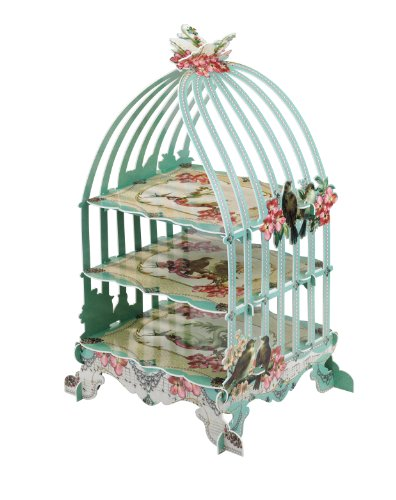 Pastries & Pearls 3-Tier Birdcage Patisserie Cake Stand