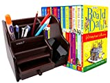 Bazaar Pirates Multi Purpose Desk Organizer Books Organizer For Home And Office Use (Wood)