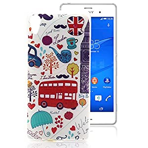 Sony Xperia Z4 Case, Ludan Painted Series Durable Lightweight Slim Protective TPU Gel Back Case Cover for 5.1 inches Sony Xperia Z4 Z3X PM-0850-BV E6533 E6553 from Ludan