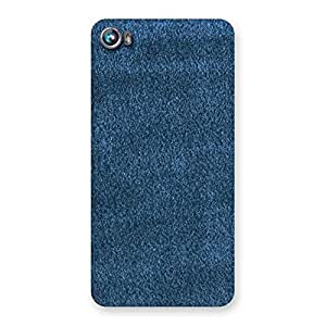 Delighted Royal Blue Cloth Print Back Case Cover for Micromax Canvas Fire 4 A107