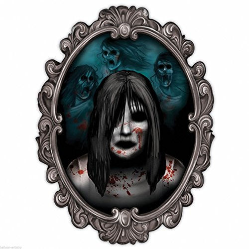 Haunted House Halloween Party Ghost Girl Gothic 3D Mirror Wall Decoration (The Spirit Of Halloween Store Locations)