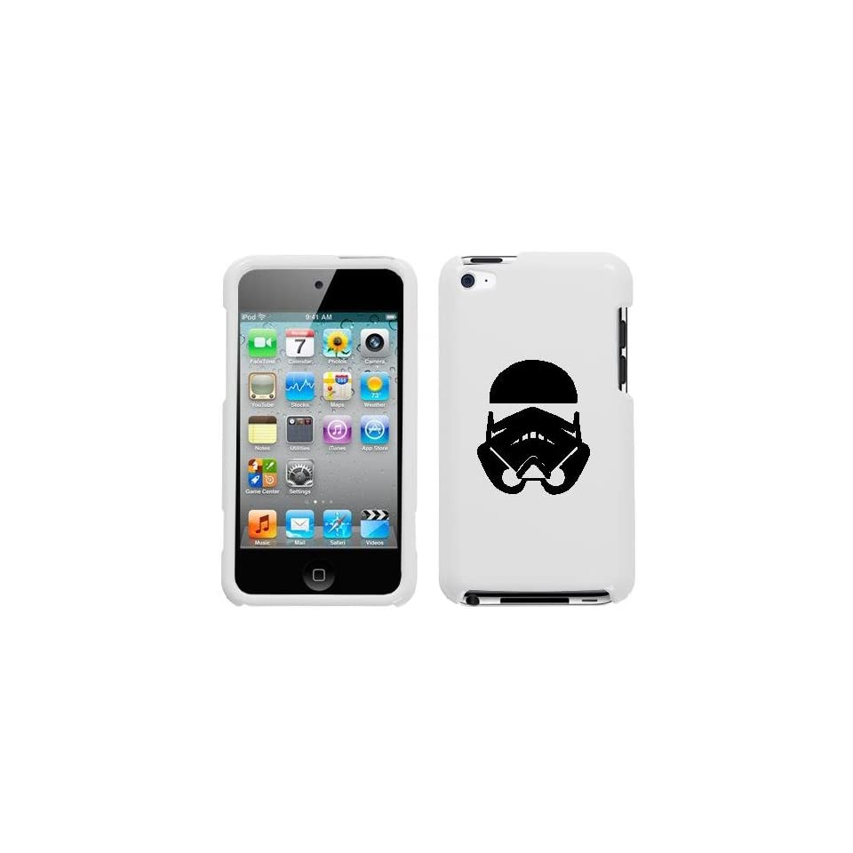 APPLE IPOD TOUCH ITOUCH 4 4TH BLACK STORMTROOPER ON A WHITE HARD CASE COVER