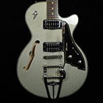 Duesenberg Starplayer III Semi-Hollow - Silver Sparkle with Hard Case
