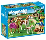 PLAYMOBIL 5227 - Paddock with horses + 5108 - Shire Horse with Groomer and Stable