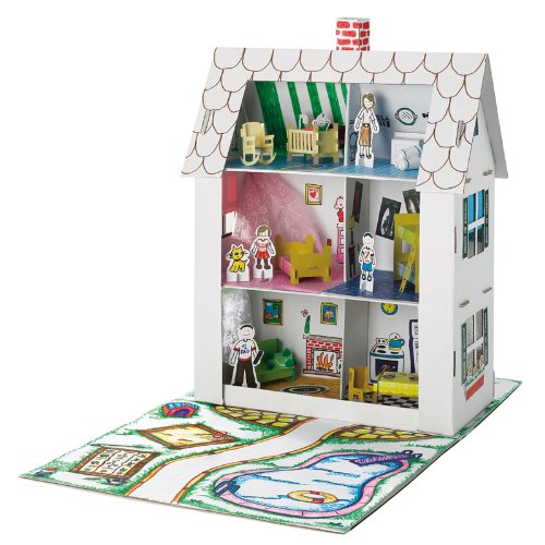Creativity for Kids Cardboard Doll House