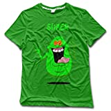 NUBIA Men's Slimer Funny T Shirt KellyGreen Size XL