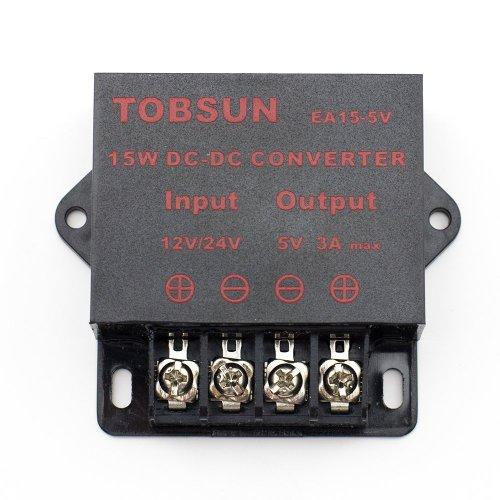 Sinollc Dc 12V 24V To 5V 3A Converter Step Down Regulator 5V Regulated Power Supplies Transformer Converter