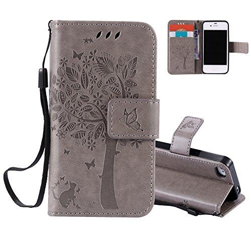 grau-flip-schutztasche-fur-apple-iphone-5c-aeequer-ultra-slim-pragung-wunschbaum-und-cute-tier-katze
