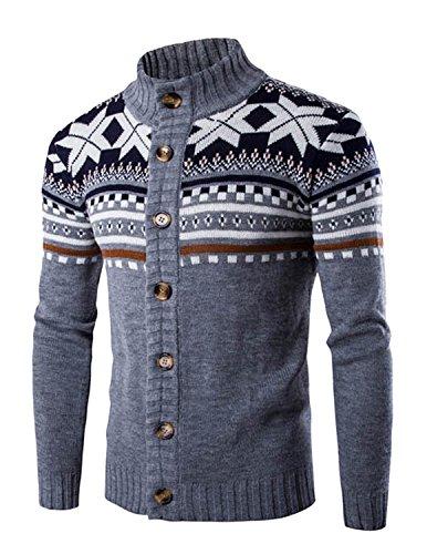 LIANIHK Moda Uomo Moda Pullover lavorato a maglia Cardigan