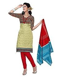 BAPUJI PRINT - WOMEN'S COTTON UNSTITCH DRESS MATERIALS - FULKI-116