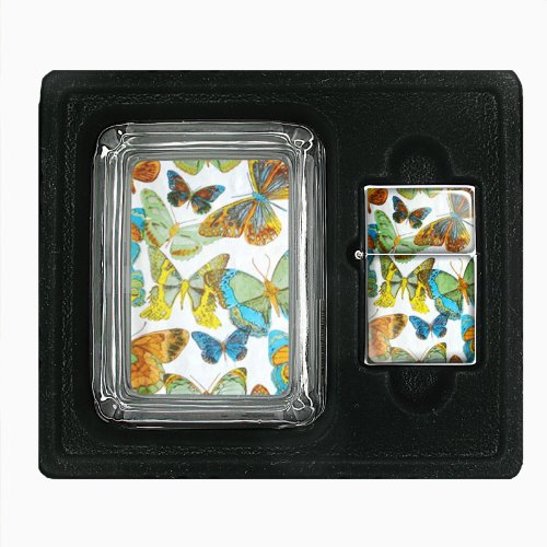 1960S Or 70S Mod Butterflies 1 Jumbo Size Huge Big Giant 6.5 Inch Electronic Lighter D-304