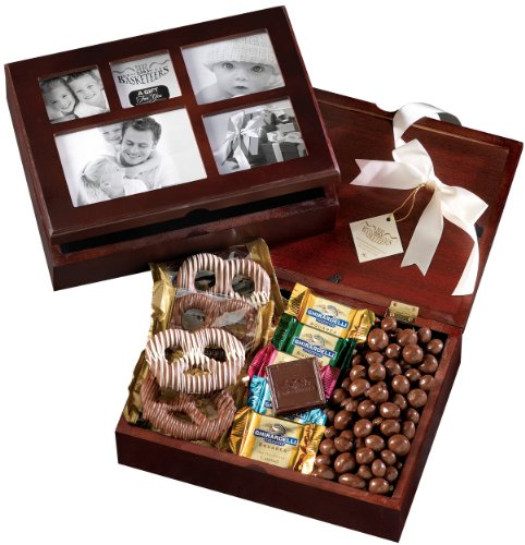 Broadway Basketeers Christmas Chocolate Holiday Photo Gift Box