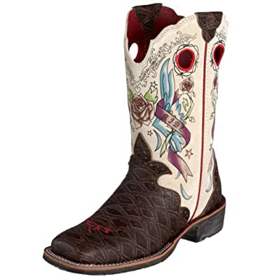 Amazon Com Ariat Women S Rodeobaby Rocker Boot Distressed