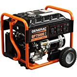 Generac 5943 GP7500E 7,500 Watt 420cc OHV Portable Gas Powered Generator with Electric Start by Generac