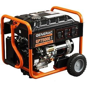 Generac 5943 GP7500E 7,500 Watt 420cc OHV Portable Gas Powered Generator with... by Generac