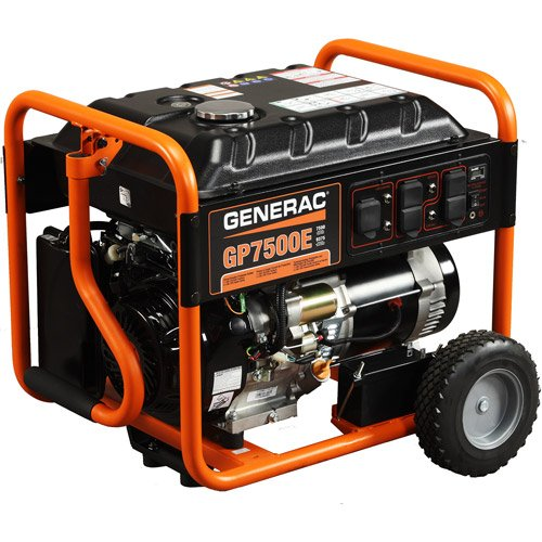Generac 5943 GP7500E 7,500 Watt 420cc OHV Portable Gas Powered Generator with Electric Start