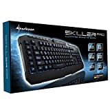 Sharkoon-Skiller-Pro-beleuchtete-Gaming-Tastatur-9-Multimedia-6-Makro-und-3-Profil-Tasten-Software-USB-schwarz