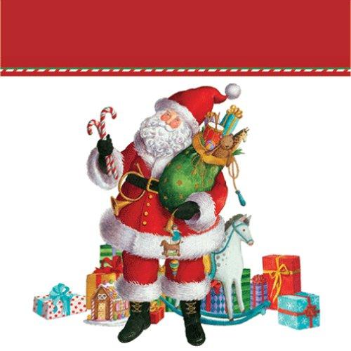 Caspari Entertaining Geschenktüte aus Papier, Motiv Weihnachtsmann, Klein