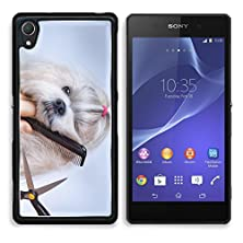 buy Msd Sony Xperia Z2 Aluminum Plate Bumper Snap Case Shih Tzu Dog Grooming With Comb And Scissors 26081848