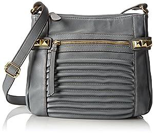 Jessica Simpson Samantha Cross Body Bag,Slate Grey,One Size