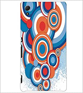 PrintDhaba Circular Pattern D-5293 Back Case Cover for SONY XPERIA Z4 (Multi-Coloured)