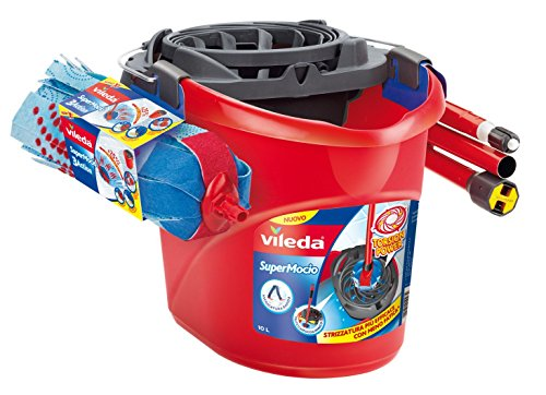vileda-3action-supermocio-set-mocio-con-manico-e-secchio-strizzatore-plastica-rosso-45x33x32-cm