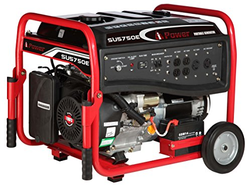 A-iPower SU5750E Gasoline Portable Generator with Electric Start
