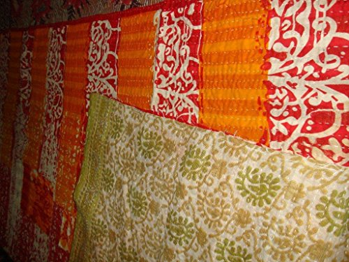 La colcha Kantha indio manta hecha de algodón Sari étnica Bohemia colcha Reversible Gudari cama manta bordada de la tela