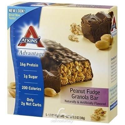 Atkins Advantage Bar Peanut Fudge Granola - 5 Pk, 6 pack (image may vary)