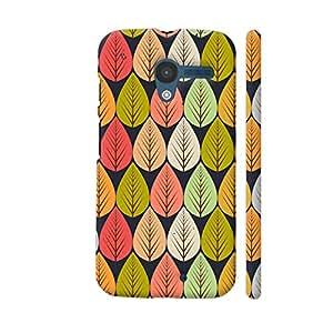 Colorpur Vintage Seamless Light Multicolor Leaves Designer Mobile Phone Case Back Cover For Motorola Moto X1 | Artist: Designer Chennai