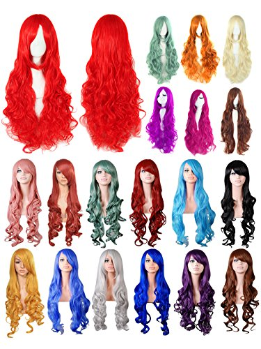 HnB Women Sexy Long Curly Full Wig Fancy Dress Wigs Cosplay Party Costume