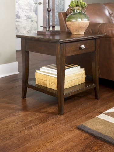 "Cheap Brown Cherry End Table by ""Famous Brand"" Furniture (T412-2)"