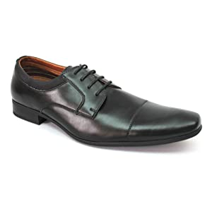Ferro Aldo Cap to Men's Dress Shoes Lace up Oxfords 19107a (10.5 U.S (D) M, BROWN)