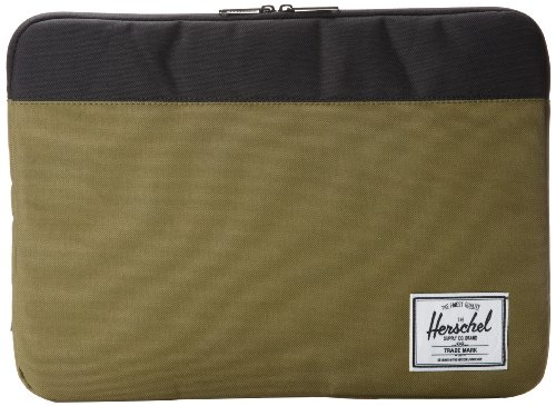Herschel Anchor Sleeve For Macbook 15'' Laptop Case - Army/Black