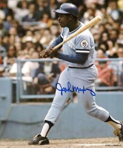 Autographed John Mayberry 8X10 Photo Kc Royals