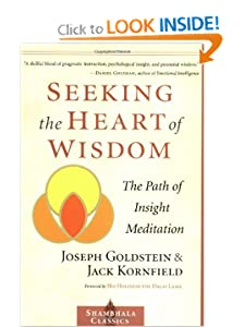 Seeking the Heart of Wisdom: The Path of Insight Meditation (Shambhala Classics) [Paperback] — by Joseph Goldstein (Author), Jack Kornfield (Author), Dalai Lama (Foreword), Robert K. Hall M.D. (Foreword)