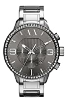 A|X Armani Exchange AX1270 Gery Chronograph Date Glitz Steel Band Men Watch NEW