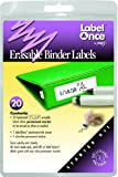 Jokari Label Once Erasable Binder Labels Starter Kit with 20 Labels, Eraser and Pen