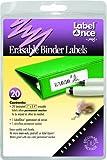 Jokari Label Once Erasable Binder Labels Starter Kit with 20 Labels, Eraser and Pen