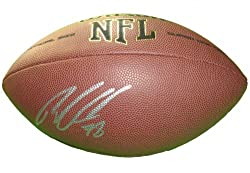 Ryan Clady Autographed NFL Wilson Composite Football, Denver Broncos, Boise State Broncos, Proof Photo