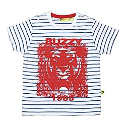 Buzzy Baby-Boys' Cotton T-Shirt (Red,3-6M)