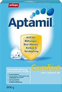 Aptamil Comfort Spezialnahrung bei Verstopfung und Blähungen, ab dem 1. Fläschchen , 1er Pack (1 x 600 g)