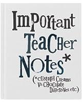 Bright Side Carnet Inscription Important Teacher Notes Book (*Custard Creams Vs Chocolate Digestives etc.)