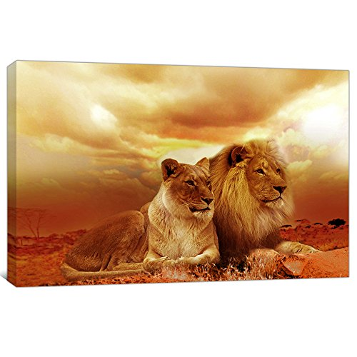 Global artwork printed posters and prints animal lions for 16 x 20 living room