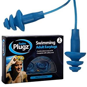 4 Pairs Of Adult Silicone Swimming Push In Ear Plugs & Safety Cord - Comes With TCH Anti-Bacterial Pen!