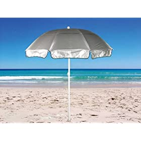 6 ft Solarteck Beach Umbrella Windproof with Tilt