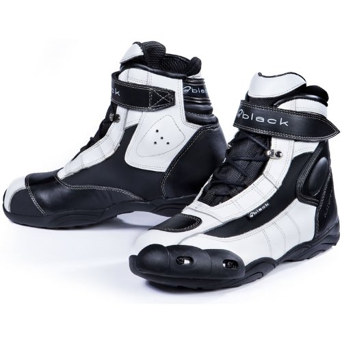 FC-Tech - Motorrad-Stiefel kurz - Schuhe - knöchelhoch - Weiß - EU44