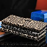 IStyle Leopard Skin Luxury PU Leather Magnetic Flip Stand Wallet Case Cover for Samsung GALAXY Note 3-White