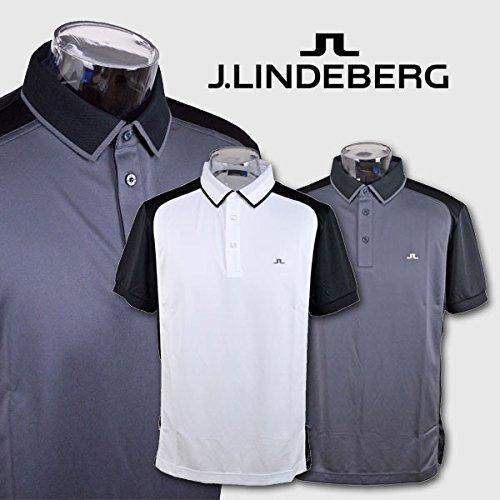 (J.リンドバーグ) J.LINDEBERG 半袖ポロシャツ 071-29948 LL(48) 18(グレー×黒)